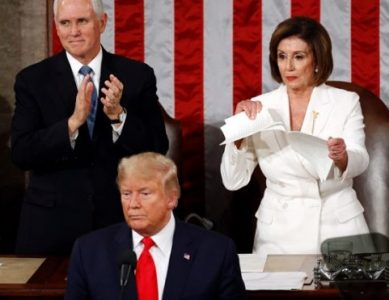 Nancy Pelosi Ripped Up Trump's Speech After State of the Union